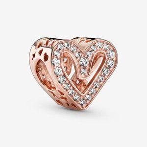 ♉Pandora  Sparkling Freehand Heart Charm